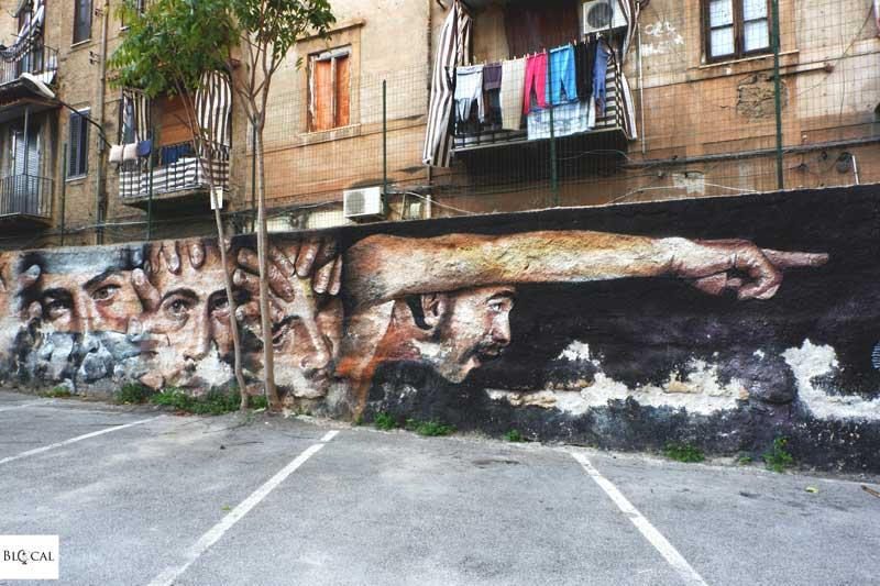 rosk street art in palermo