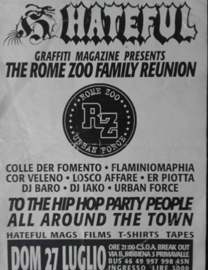 Rome Zoo Hip Hop Nico TRV Graffiti Roma