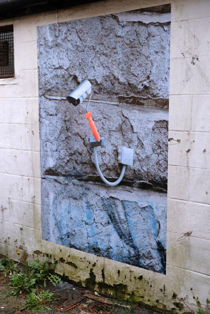 Biancoshock CCTV Nuart Lockdown Edition