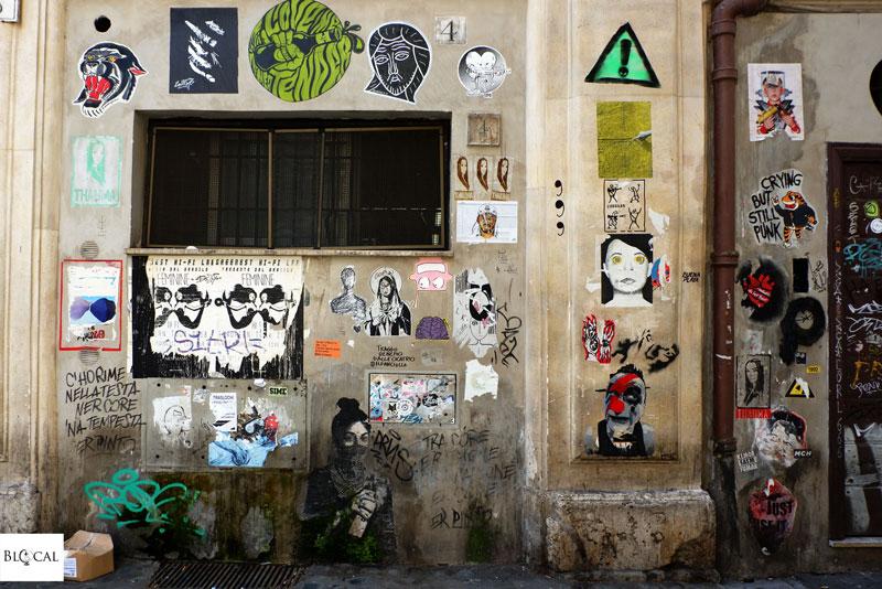 street art Trastevere via della Lungaretta