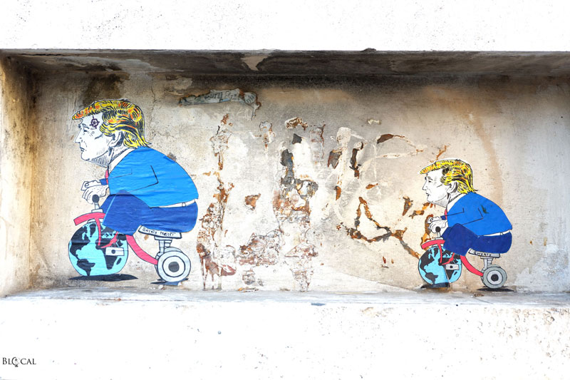qwerty street art Trastevere Roma