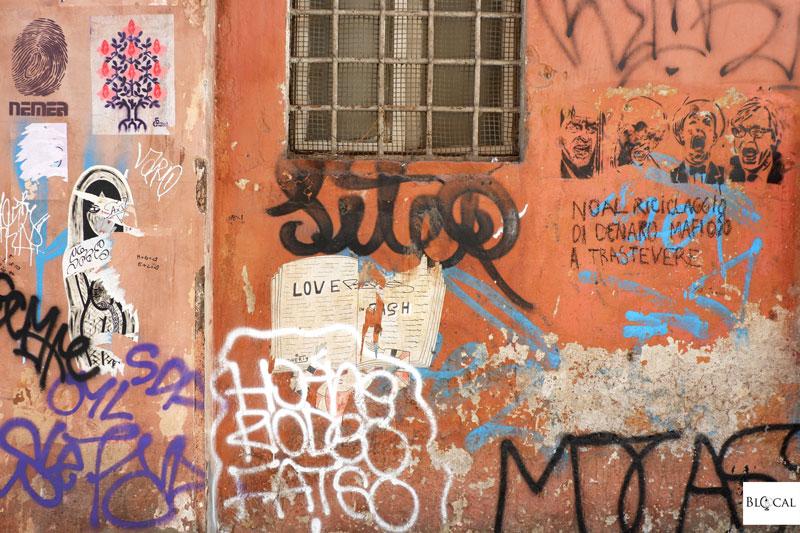 poster art Trastevere roma