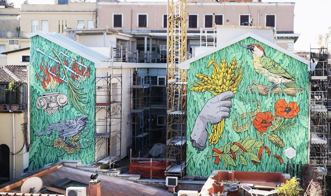 Lucamaleonte street art in San Lorenzo