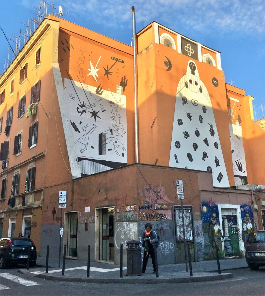 murales guerrilla spam San Lorenzo rome