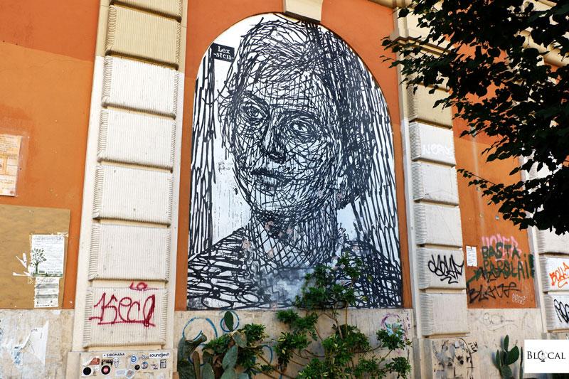 sten lex street art in San Lorenzo Roma