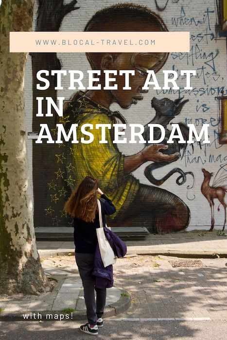 Amsterdam street art guide with map
