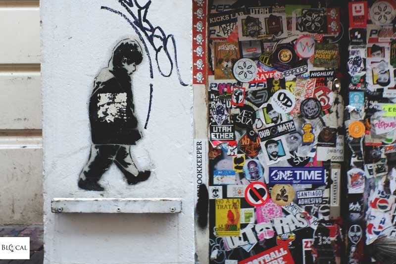 Icy & Sot stencil in the city center of Amsterdam street art