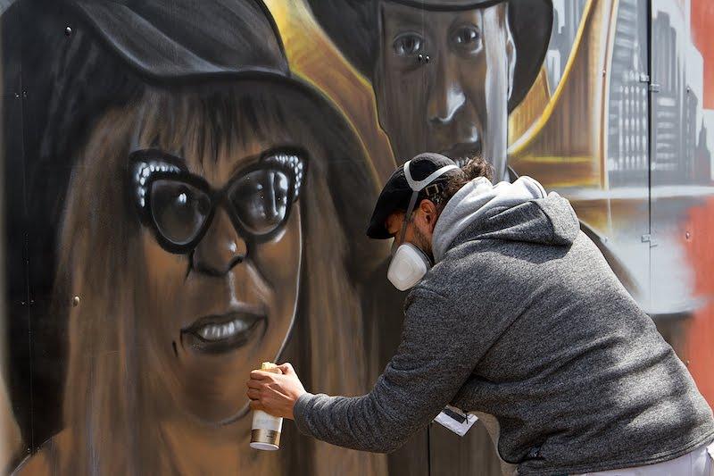 Soy artist at Kings Spray graffiti festival Amsterdam
