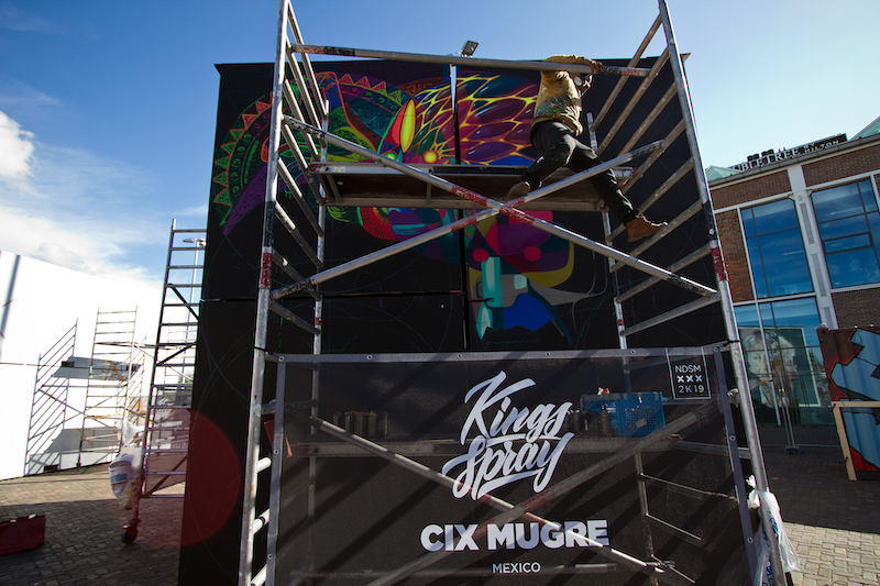 Cix Mugre Kings Spray graffiti NDSM Amsterdam