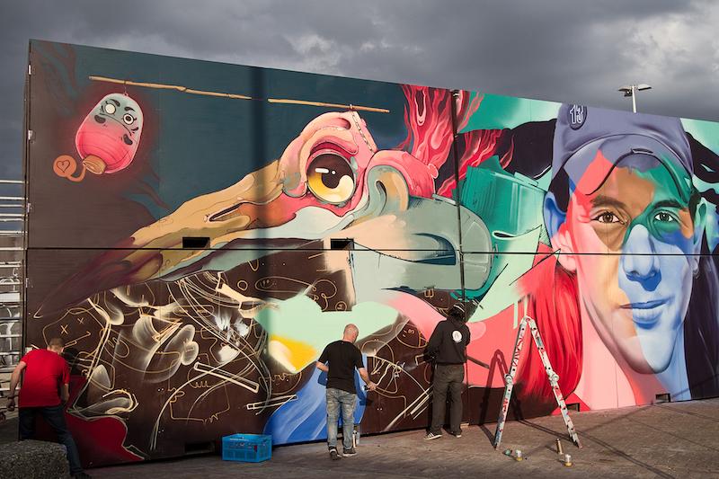 Treze forever Malakkai Karski and Beyond Kings Spray graffiti Amsterdam