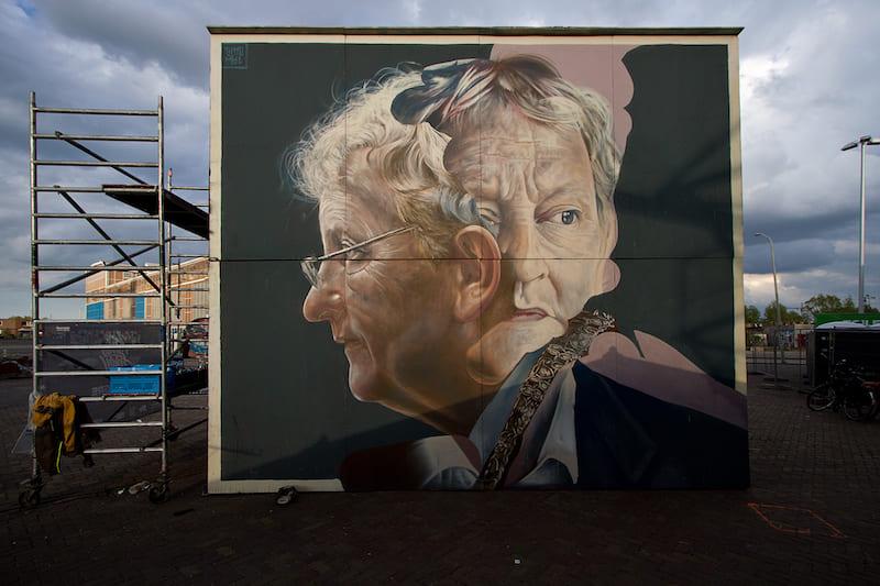 Telmo Miel street art in Amsterdam