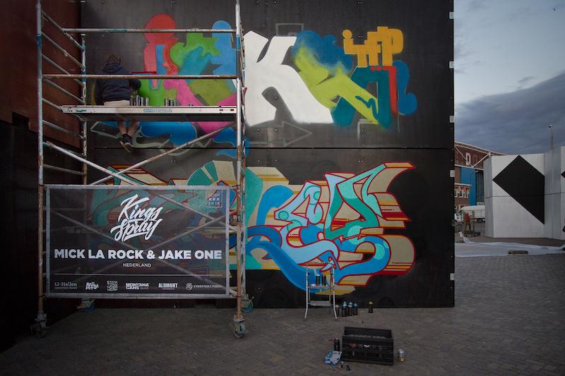 Mick la Rock JAKE at Kings Spray graffiti festival Amsterdam