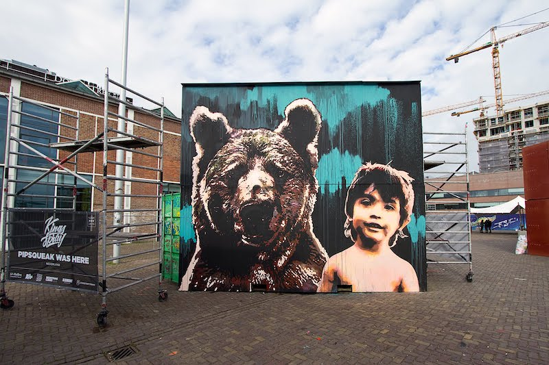 Pipsqueak Was Here Kings Spray graffiti NDSM Amsterdam