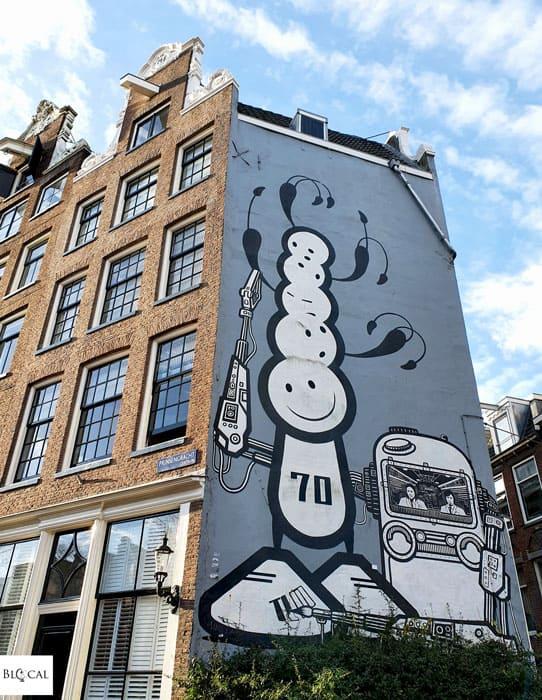 The London Police mural in Amsterdam