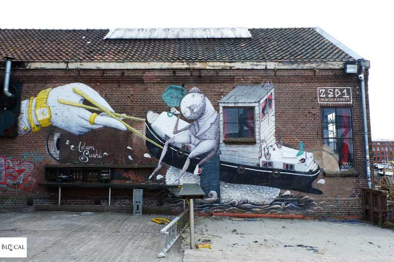 Zed1 mural in Amsterdam street art