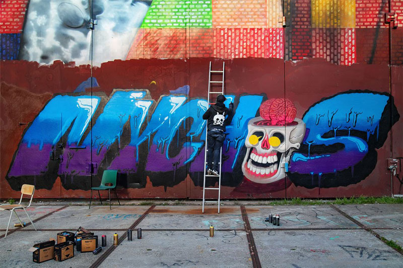 Nychos graffiti NDSM Amsterdam interview