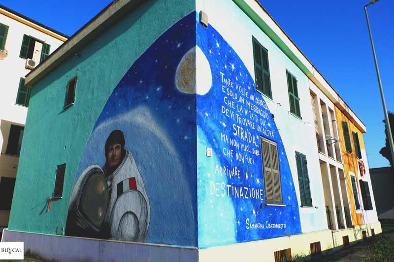 Uman street art Trullo women Samantha Cristoforetti