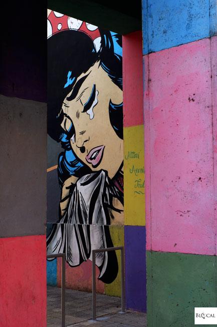 Flavio Solo mural street art in Trullo Rome