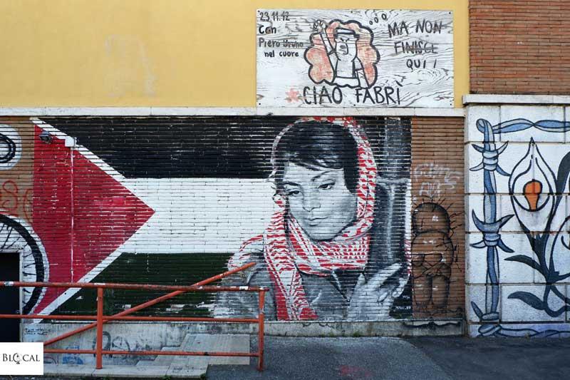 Political street art in Garbatella neighbourhood Rome