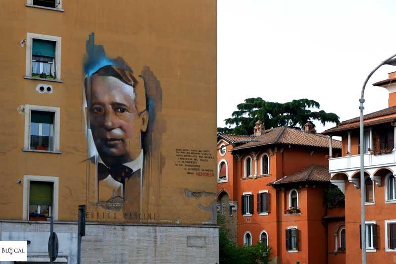 Francesco Pogliaghi street art in Garbatella neighbourhood Rome