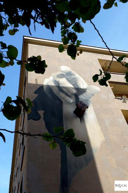 Gomez street art in Garbatella Roma