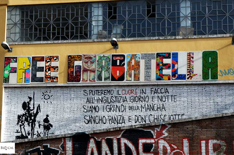 CSOA La Strada Garbatella neighbourhood Rome
