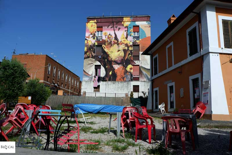 Jerico street art in Garbatella neighbourhood Rome