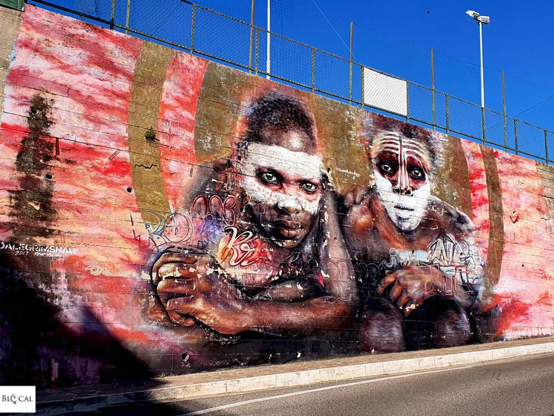 Dale Grimshaw street art in Formia