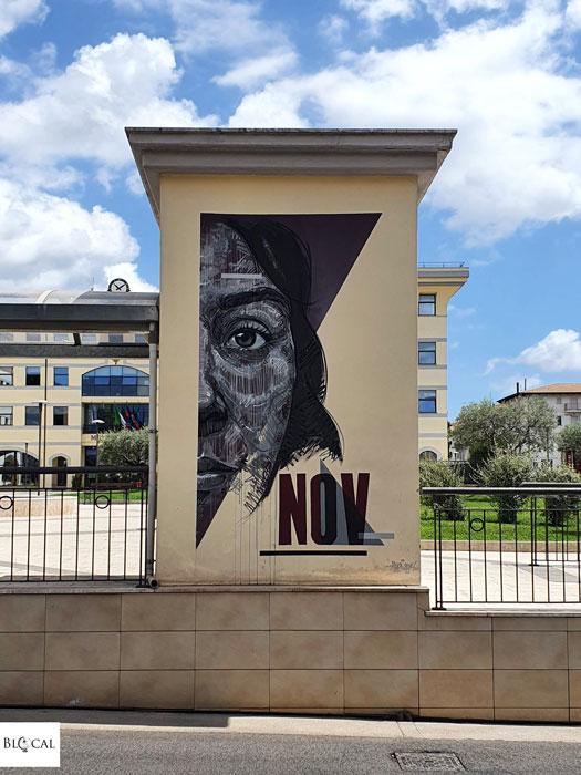 Draw street art in Fondi