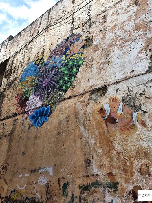 Louis Masai street art in Fondi