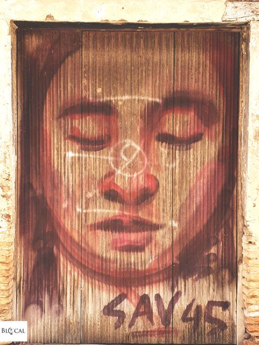 Sav45 street art in Fondi