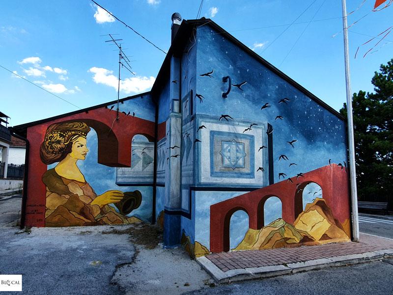 Valeria Iozzi Borgo Universo mural Aielli street art Italy