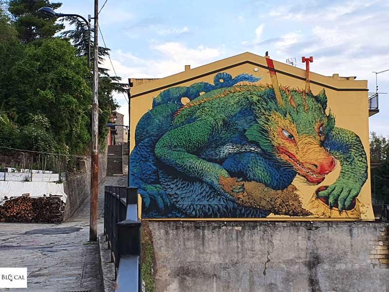 Ericailcane Appartengo festival street art Stigliano Basilicata Italy