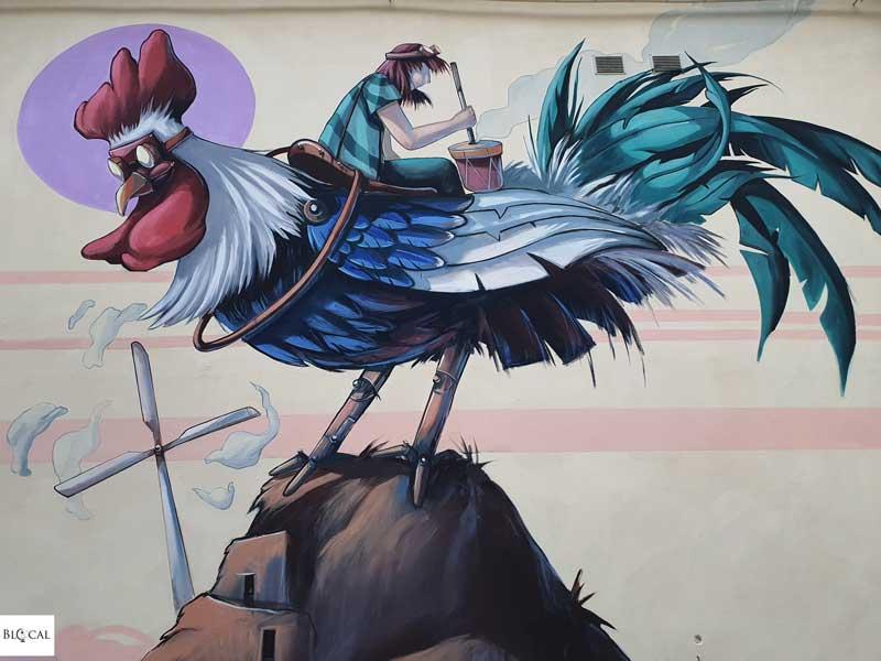 Alessandra Carloni  Appartengo Festival street art Stigliano Basilicata Italy