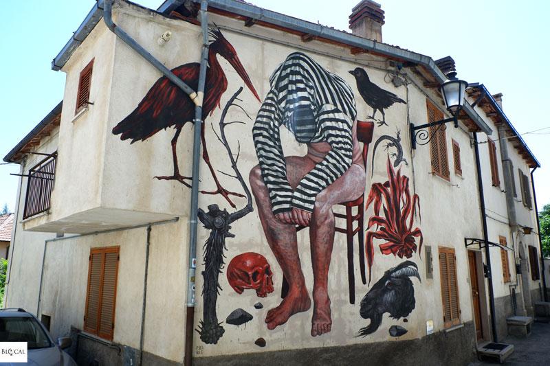 Nicola Alessandrini mural Borgo Universo Aielli