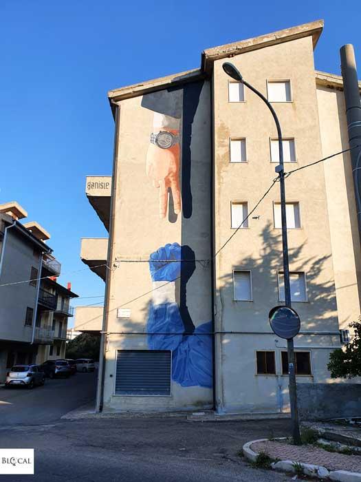 Daniele Geniale Appartengo festival street art Stigliano Basilicata Italy