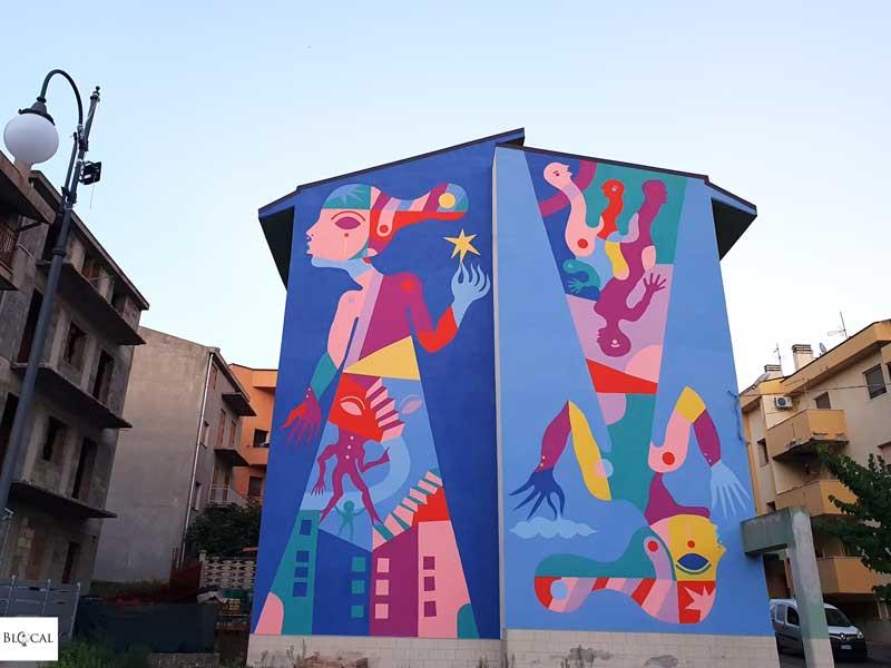 Gio Pistone Appartengo festival street art Stigliano Basilicata Italy