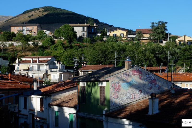 Hopnn Borgo Universo mural Aielli street art Italy