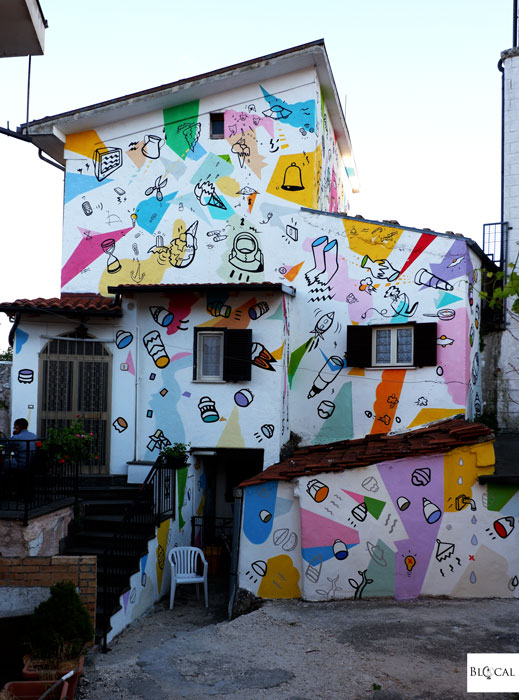 Matlakas Borgo Universo mural Aielli street art Italy