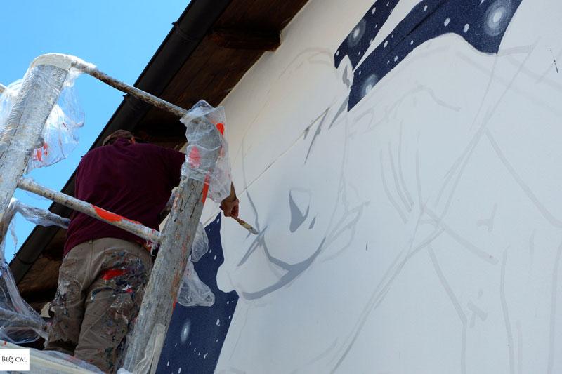 Millo Borgo Universo street art Aielli Abruzzo Italy