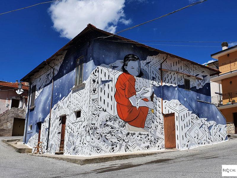 Millo mural Aielli Borgo Universo