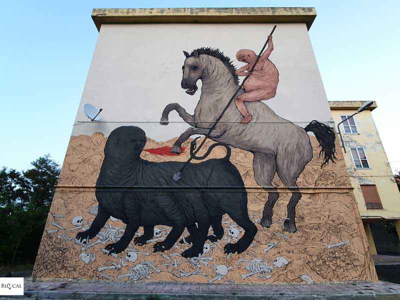Nemo's Appartengo festival street art Stigliano Basilicata Italy