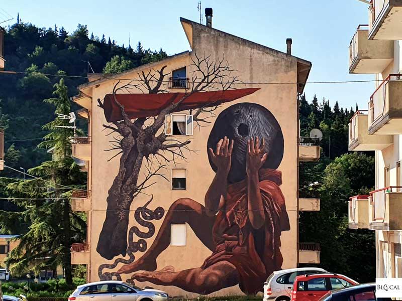 Nicola Alessandrini Appartengo festival street art Stigliano Basilicata Italy