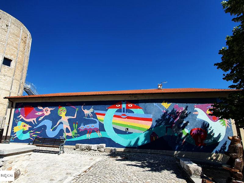 Gio Pistone Borgo Universo mural Aielli street art Italy