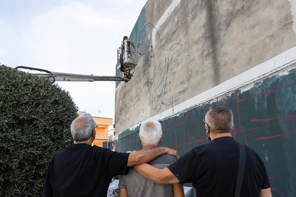 Milu Correch mural Appartengo Festival Basilicata Italy